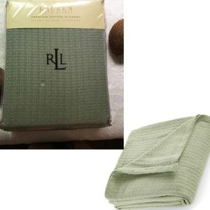 LRL STATE 100% Cotton KING Texture Weave Blanket